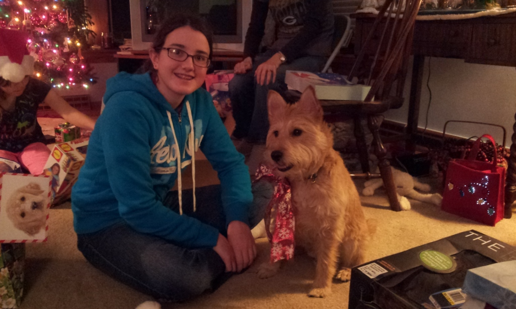 Isabelle and I - Christmas 2012