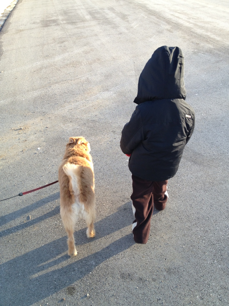 Walking to the Playground